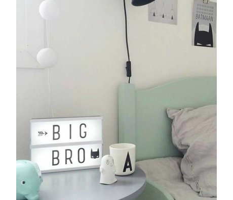 A Little Lovely Company Lamp Lightbox A5 black 14.8x21cm