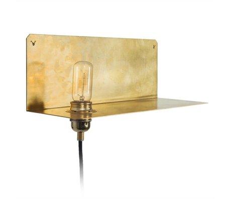 Frama Wandlamp 90° WALL goud brass messing 15x40x15cm