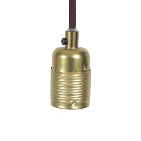 Frama Cordon électrique avec raccord en laiton e27 or Ø4x7,2cm bordeaux métal