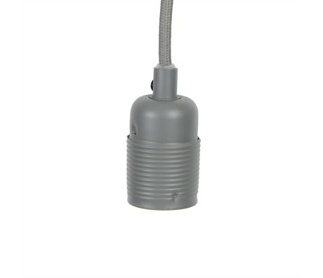 Frama Electrical cord with fitting e27 gray metal Ø4x7,2cm
