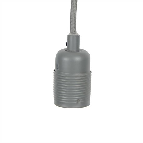 Frama Stromkabel mit pass e27 grauen Metall Ø4x7,2cm