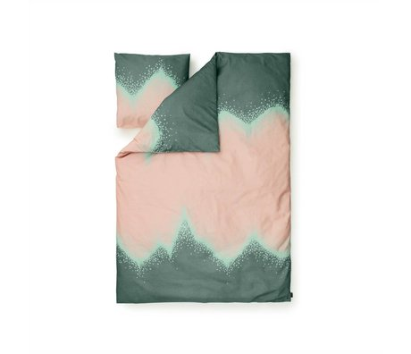 Normann Copenhagen Sprinkle green cotton duvet cover 140x200cm