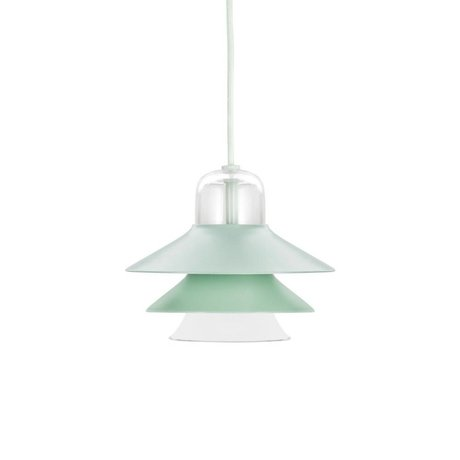 Normann Copenhagen Ikono pendant light mint green coated steel glass ø20cm