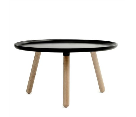 Normann Copenhagen Tablo table black plastic ash ø78cm