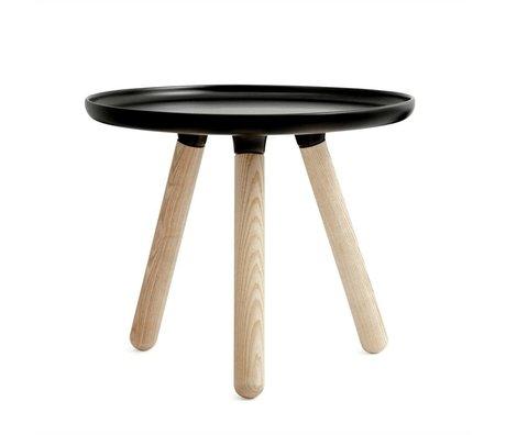 Normann Copenhagen Tablo Tisch aus schwarzem Kunststoff Asche Ø50cm