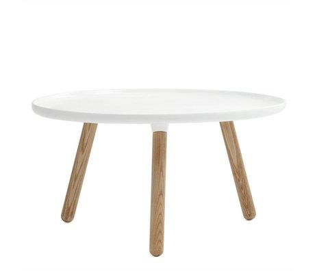 Normann Copenhagen Tablo table white plastic ash ø78cm