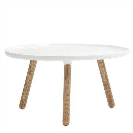 Normann Copenhagen Tablo Tisch aus weißem Kunststoff Asche ø78cm
