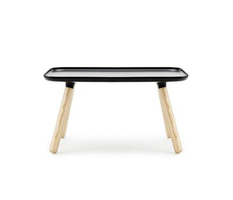 Normann Copenhagen Tablo table rectangle black plastic ash 42x78x45cm