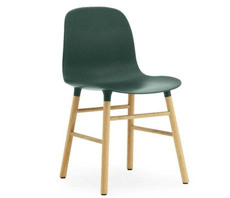 Normann Copenhagen Form green plastic chair oak 78x48x52cm
