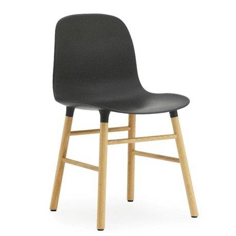 Normann Copenhagen Form black plastic chair oak 78x48x52cm