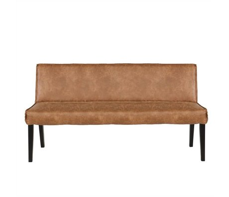 BePureHome Essen Bank Rodeo cognacbraun Leder 83x156x61cm
