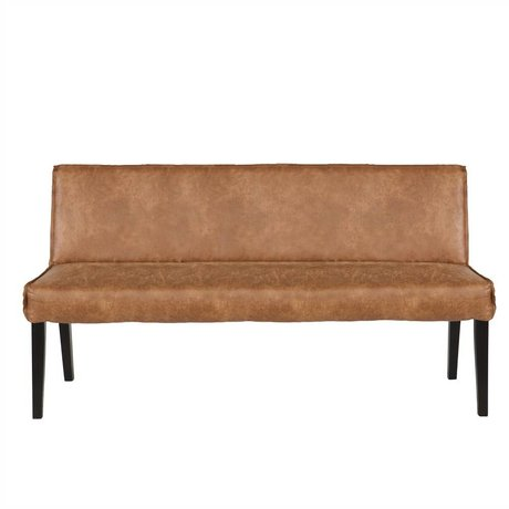 BePureHome Dining room sofa Rodeo cognac brown leather 83x156x61cm