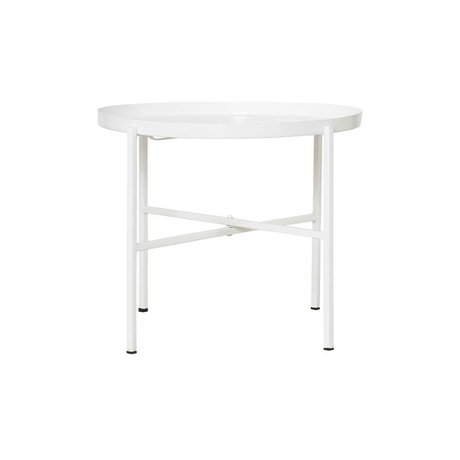 Housedoctor All white metal table White Ø45x38cm