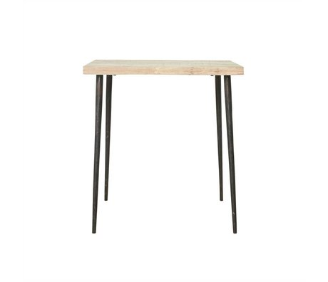 Housedoctor Slated table mango wood metal 76x70x70cm