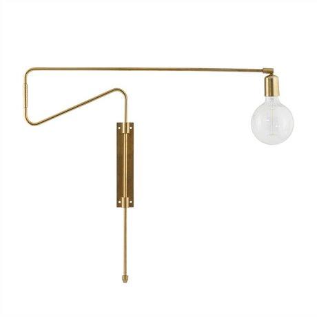 Housedoctor Wandlamp Swing brass metaal 70cm