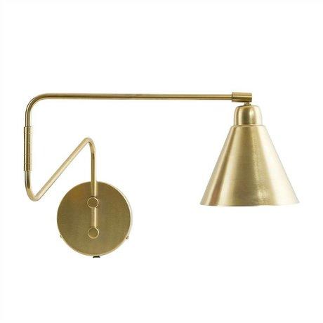 Housedoctor Wandlamp Game goud metaal Ø15cm