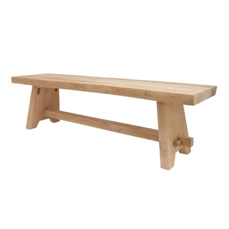 HK-living Brown wood bench 160x40x45cm