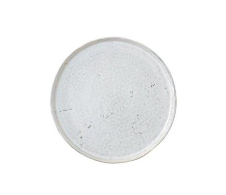 HK-living Ontbijtbord wit keramiek 22x22x1,8cm