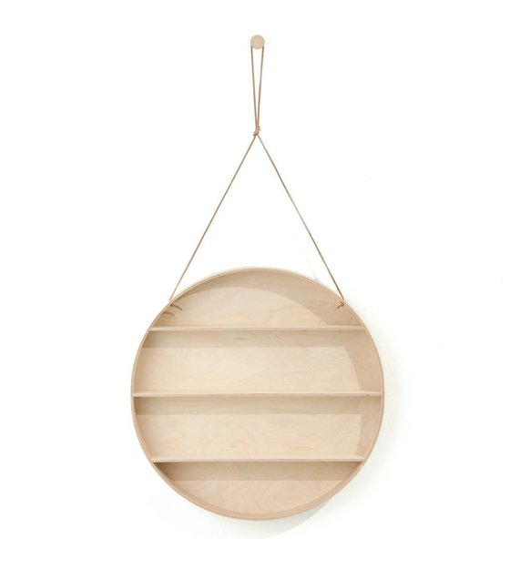 ferm living wandkastje the round dorm naturel triplex 55 cm met leren veter. Black Bedroom Furniture Sets. Home Design Ideas