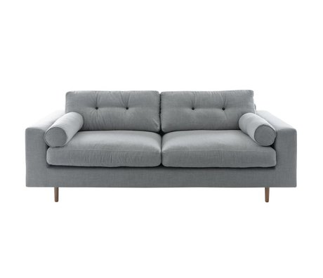 I-Sofa Bank Gilmour 3 seater light gray 214x80x90cm