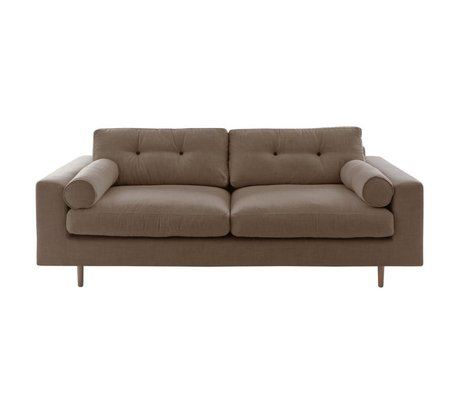 I-Sofa Bank Gilmour 3 seater brown cappuccino 214x80x90cm