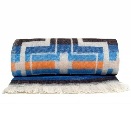 Storebror Native throw blanket multicolor polyester 200x140cm