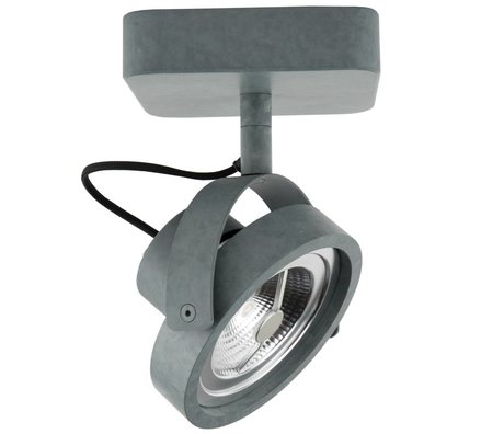Zuiver Wandlamp DICE-1 LED staal grijs 12x12cm