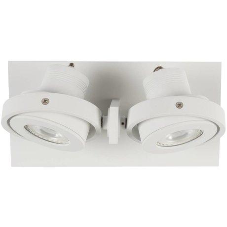 Zuiver Wandlamp LUCI-2 LED aluminium wit 23x11,5x12,8cm
