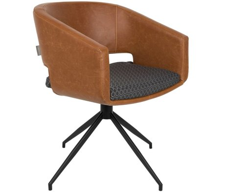 Zuiver Beau chair leatherette brown polyester 61x57x77cm