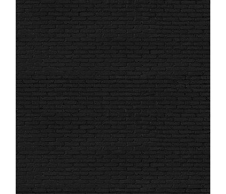 NLXL-Piet Hein Eek Fond d'écran noir brique papier noir 900 x 48,7 cm