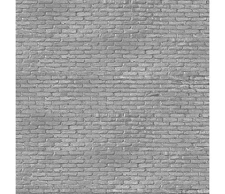 NLXL-Piet Hein Eek Tapete Silbergrau Brick graues Papier 900 x 48,7 cm