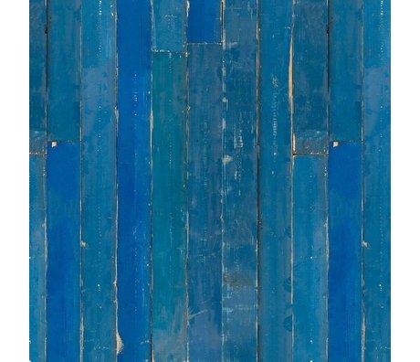 NLXL-Piet Hein Eek Behang Blue Scrapwood papier blauw 900x48,7cm