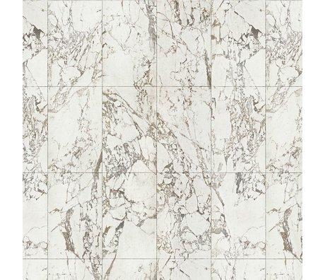 NLXL-Piet Hein Eek Tapete Marble White paper weiß grau 900x48,7cm