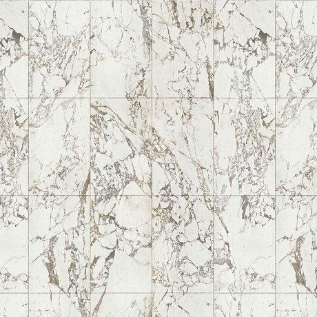 NLXL-Piet Hein Eek Behang Marble White papier wit grijs 900x48,7cm