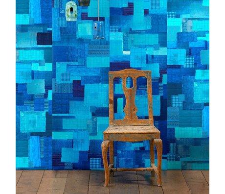NLXL-Paola Navone Behang Shibori blauw 900x49cm