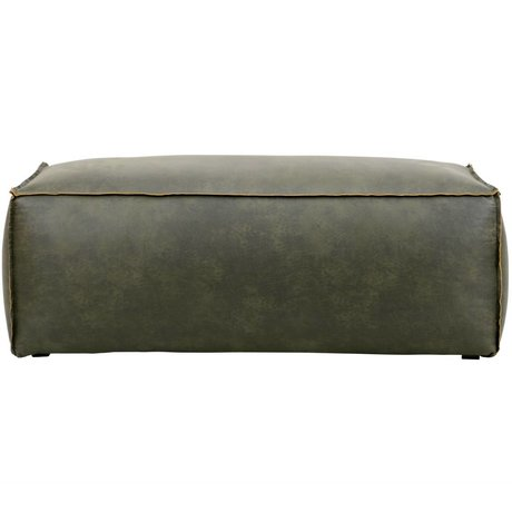 BePureHome Pouf Rodeo army green leather 43x120x60cm