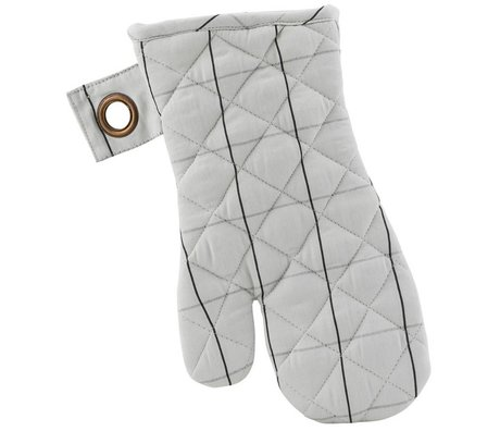 Housedoctor Oven Glove screen set of two black gray cotton 18x32cm