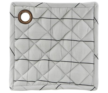 Housedoctor Check potholder set of two black gray cotton 20x20cm