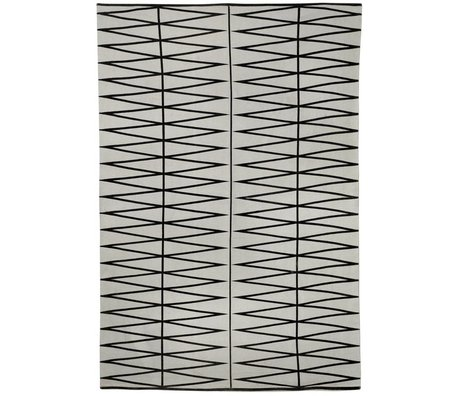 Bloomingville Floor cover printed gray black cotton 140x200cm