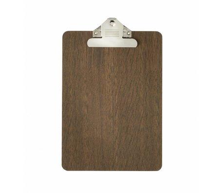 Ferm Living Presse-papier brun bois a5