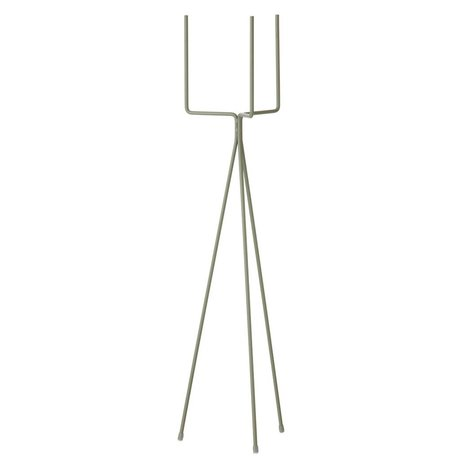 Ferm Living Planten standaard large dusty groen metaal Ø15x65cm