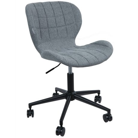 Zuiver Stoel OMG polyester grijs zwart 52x65x76/88cm