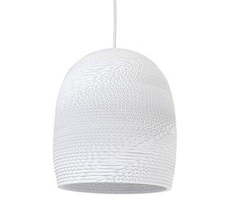 Graypants Pendentif Cloche lampe suspendue 10 carton blanc de Ø27x28cm