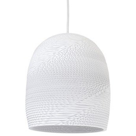 Graypants Bell Pendant hanging lamp 10 white cardboard Ø27x28cm