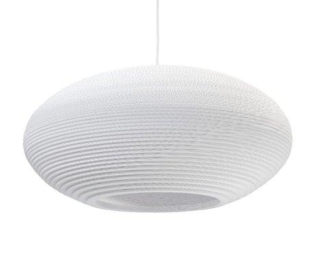 Graypants Disc Pendant hanging lamp 24 white cardboard Ø61x26cm