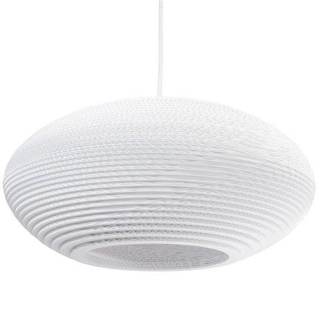 Graypants Pendentif disque lampe suspendue 20 en carton blanc Ø50x23cm