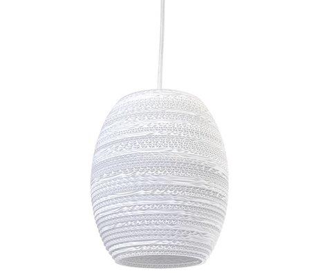 Graypants Oliv pendant lamp Pendant white cardboard Ø19x22cm
