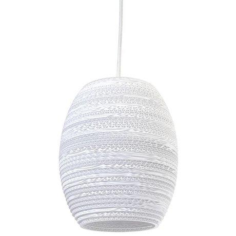 Graypants Oliv Pendentif Lampe suspension carton blanc Ø19x22cm