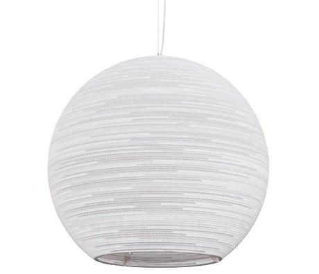 Graypants Sun Pendant hanging lamp 32 white cardboard Ø82x75cm