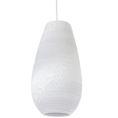 Graypants Drop Pendant hanging lamp 18 white cardboard Ø25x45cm